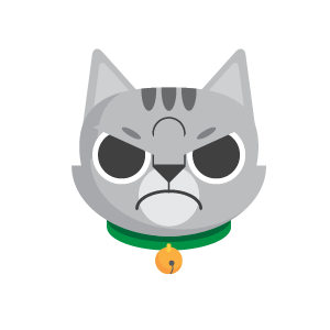 Gray Cat Bun Sticker messages sticker-2