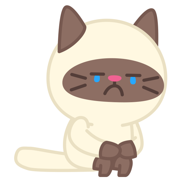 Cute baby cat ver.sadness messages sticker-1