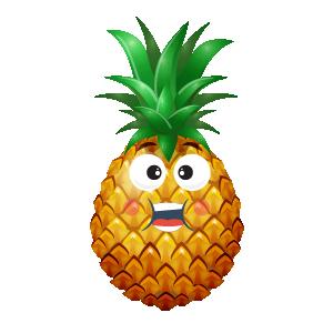 Pineapple Active Sticker messages sticker-5