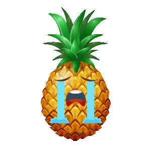 Pineapple Active Sticker messages sticker-9
