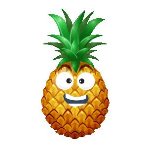 Pineapple Active Sticker messages sticker-8