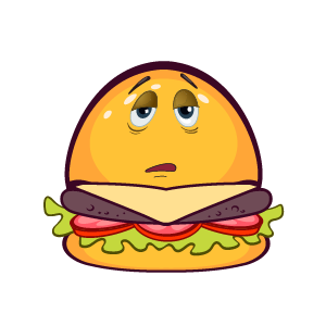 Hambuger Feeling Sticker messages sticker-7