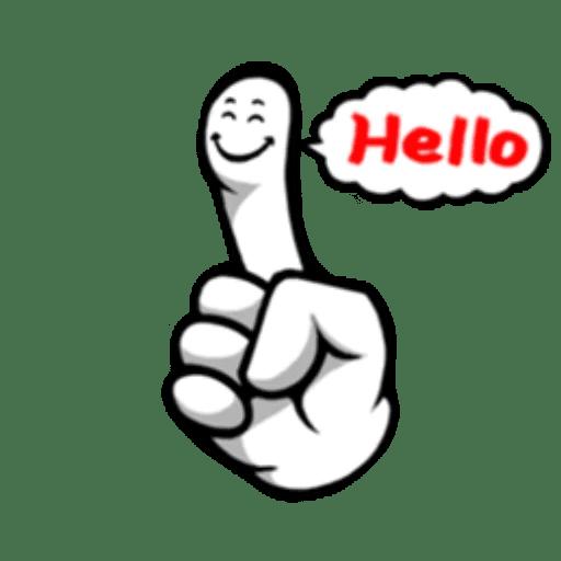 Fingerface ArtWork Stickers messages sticker-4