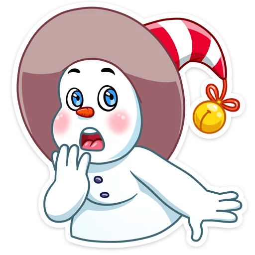 The Smiley Snowman Stickers messages sticker-2
