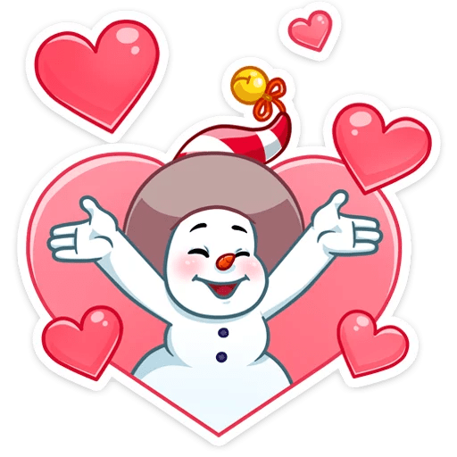 The Smiley Snowman Stickers messages sticker-8