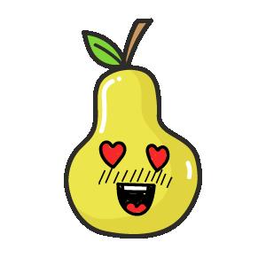 Papaya Amused Sticker messages sticker-5