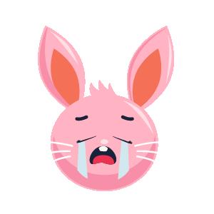Rabbit Envious Sticker messages sticker-2