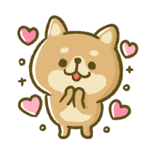 Lovely Akita Dog Emoji messages sticker-5