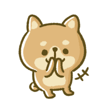 Lovely Akita Dog Emoji messages sticker-0