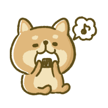 Lovely Akita Dog Emoji messages sticker-6