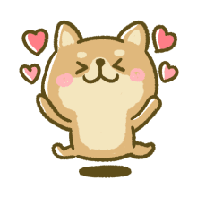 Lovely Akita Dog Emoji messages sticker-1