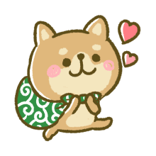 Lovely Akita Dog Emoji messages sticker-8