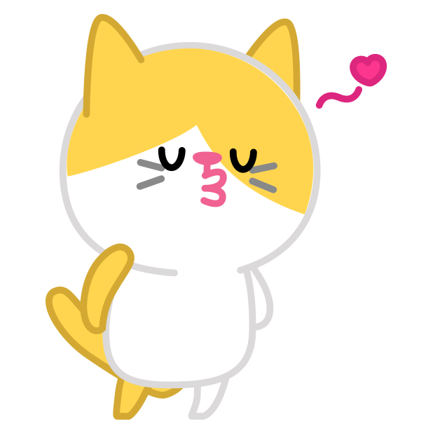 Cute baby cat ver.love messages sticker-10