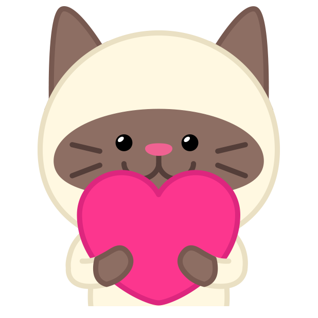 Cute baby cat ver.love messages sticker-0