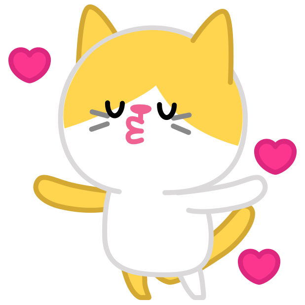 Cute baby cat ver.love messages sticker-11