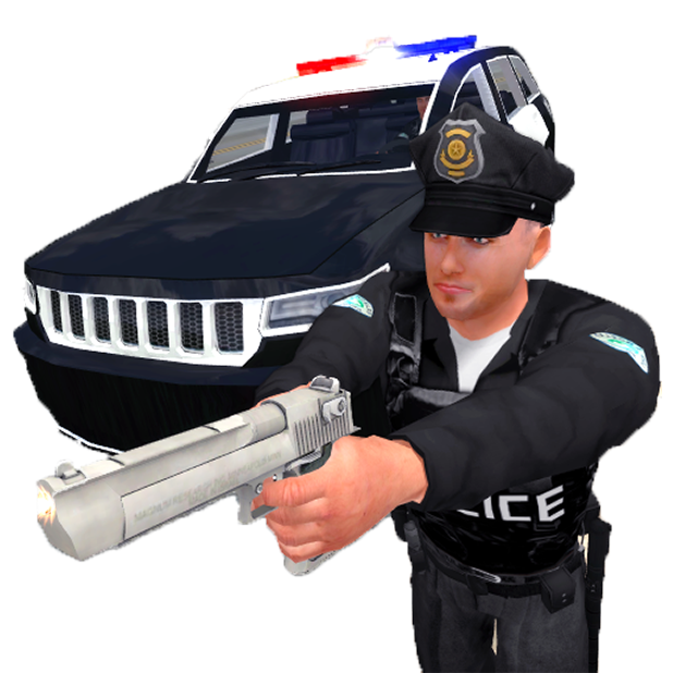 Police Simulator Cop Car Duty messages sticker-1