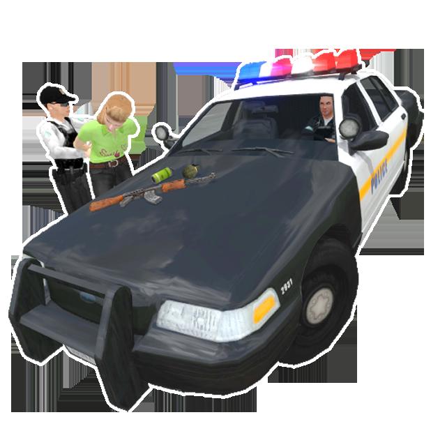 Police Simulator Cop Car Duty messages sticker-2