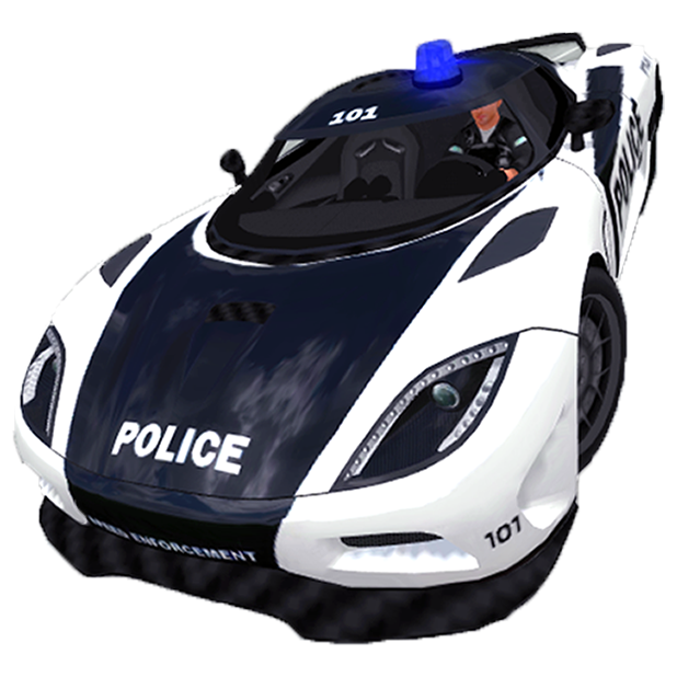 Police Simulator Cop Car Duty messages sticker-0