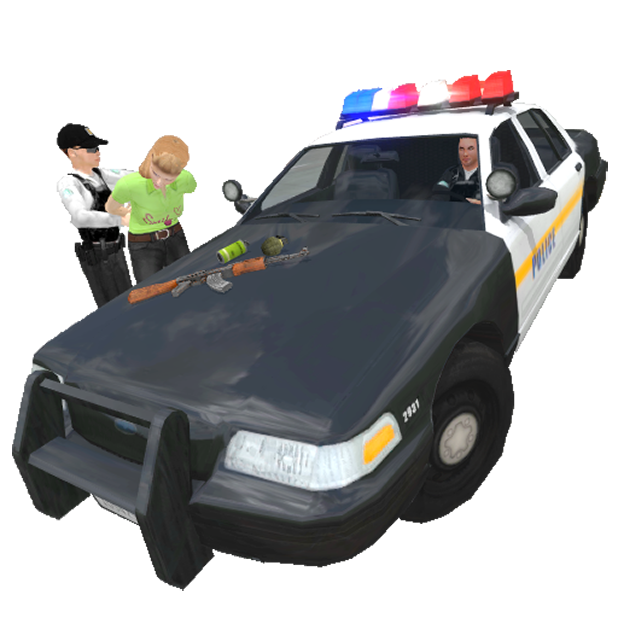 Police Simulator Cop Car Duty messages sticker-2