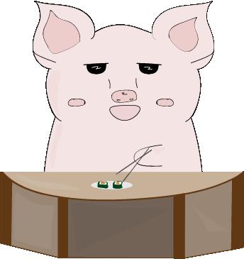 Cheeky Piggy messages sticker-11
