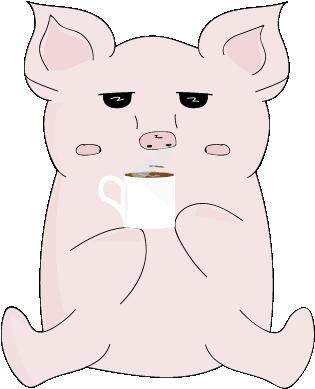 Cheeky Piggy messages sticker-1