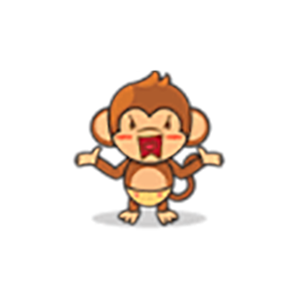 Cute Baby Monkey Stickers messages sticker-0