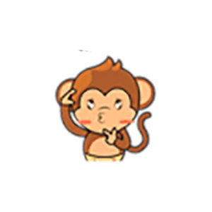 Cute Baby Monkey Stickers messages sticker-2