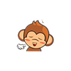 Cute Baby Monkey Stickers messages sticker-8