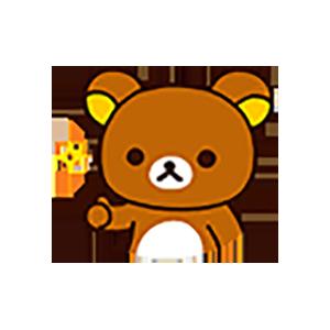 Cute Brown Bear Stickers messages sticker-0