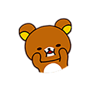 Cute Brown Bear Stickers messages sticker-3