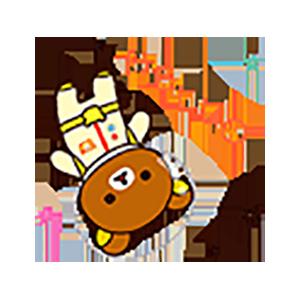 Cute Brown Bear Stickers messages sticker-1