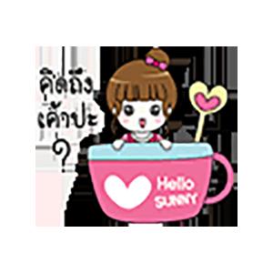 Pink Thai Girl Stickers messages sticker-4