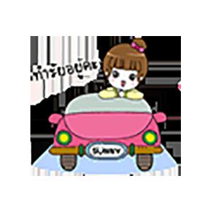 Pink Thai Girl Stickers messages sticker-1