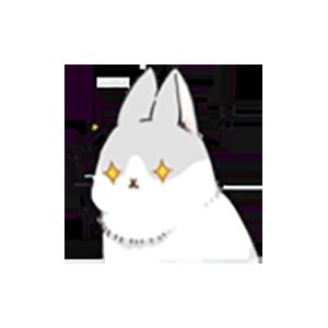 Cute White Rabbit Stickers messages sticker-9
