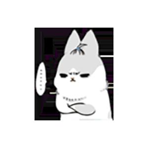 Cute White Rabbit Stickers messages sticker-3