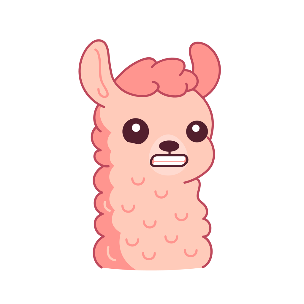 Lucy the llama messages sticker-2