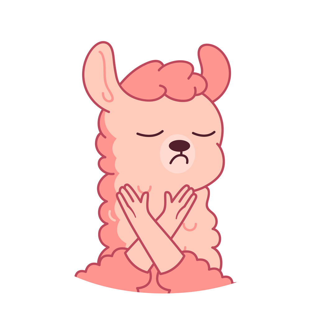 Lucy the llama messages sticker-11