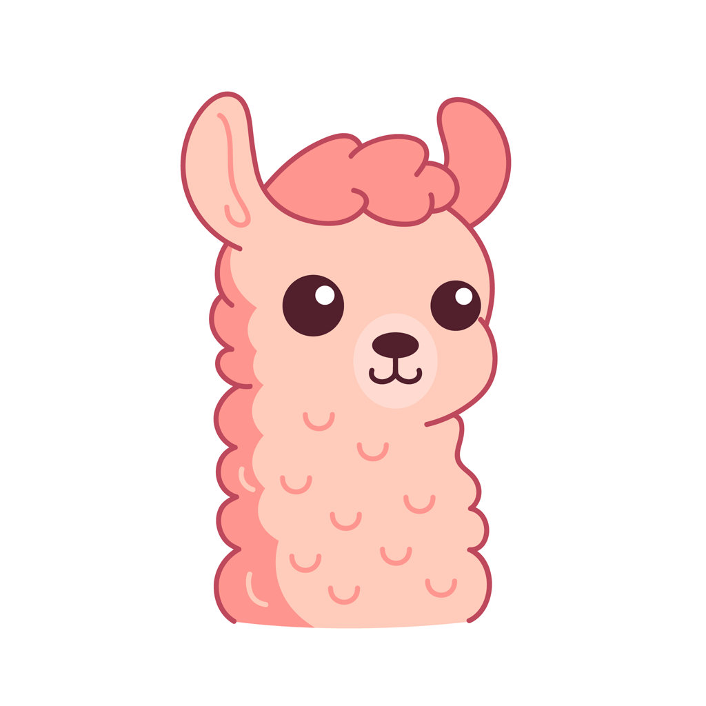 Lucy the llama messages sticker-0