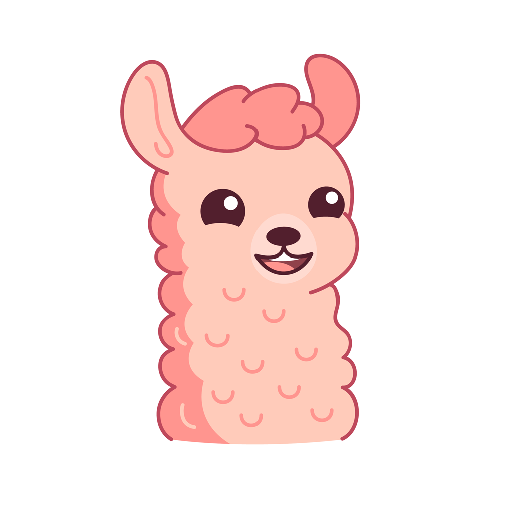 Lucy the llama messages sticker-1