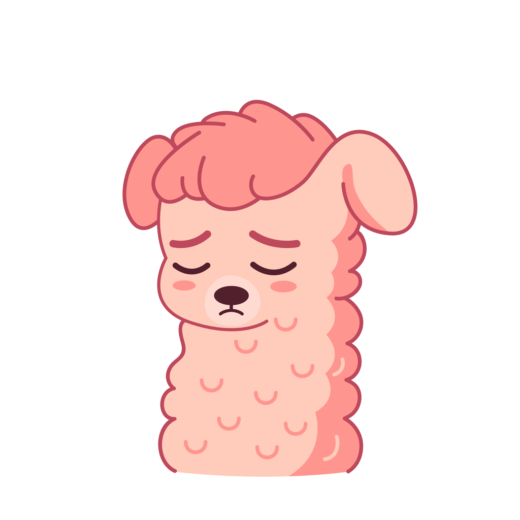 Lucy the llama messages sticker-3