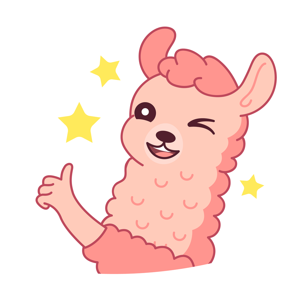 Lucy the llama messages sticker-5
