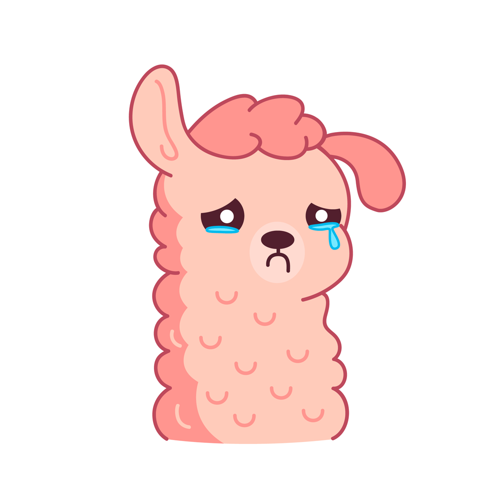 Lucy the llama messages sticker-4