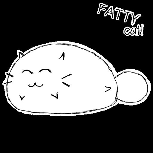 Fatty Cat! - Study Companion messages sticker-6