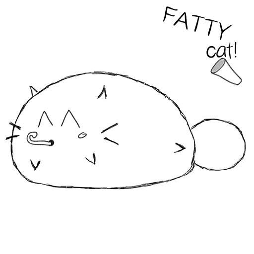 Fatty Cat! - Study Companion messages sticker-0