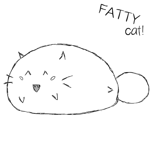 Fatty Cat! - Study Companion messages sticker-2