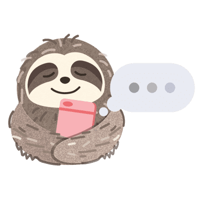 It's a Sloth Life Stickers messages sticker-10