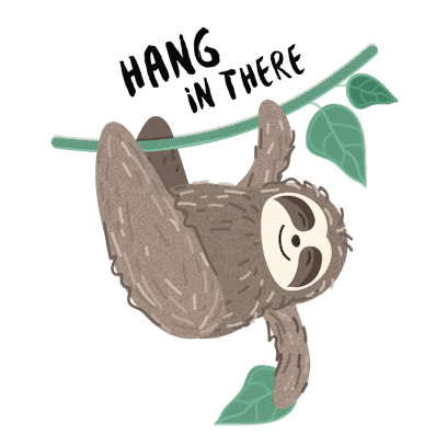 It's a Sloth Life Stickers messages sticker-8