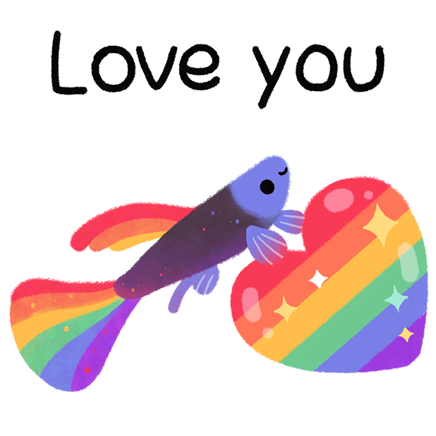 Rainbow guppy messages sticker-5