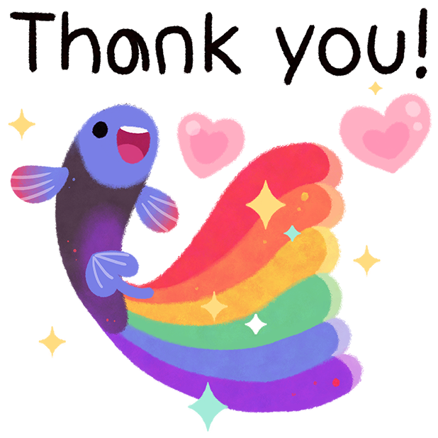 Rainbow guppy messages sticker-4