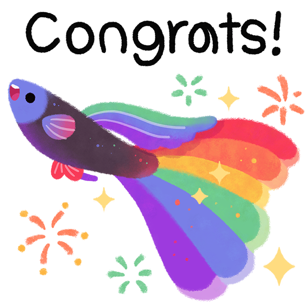 Rainbow guppy messages sticker-11